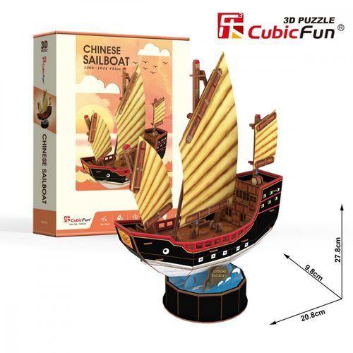 Puzzle 3D Żaglowiec Chinese Sailboat 62 elementy (6944588240332)