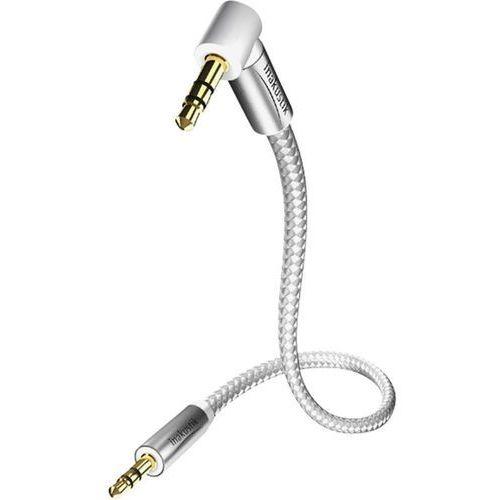 Inakustik Kabel audio, jack  4104005, [1x złącze męskie jack 3,5 mm - 1x złącze męskie jack 3,5 mm], 0.50 m, biało-srebrny (4001985511969)