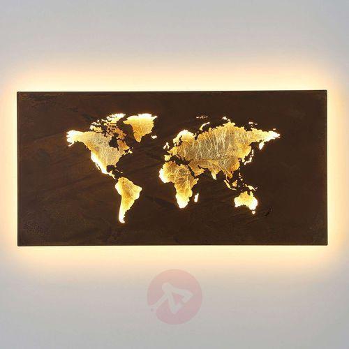Wofi Kinkiet linda led złoty, 1-punktowy - nowoczesny - obszar wewnętrzny - linda - czas dostawy: od 2-3 tygodni