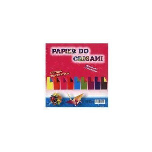 Papier do origami zmienna kolorystyka 10x10 cm 100 kartek marki Cormoran