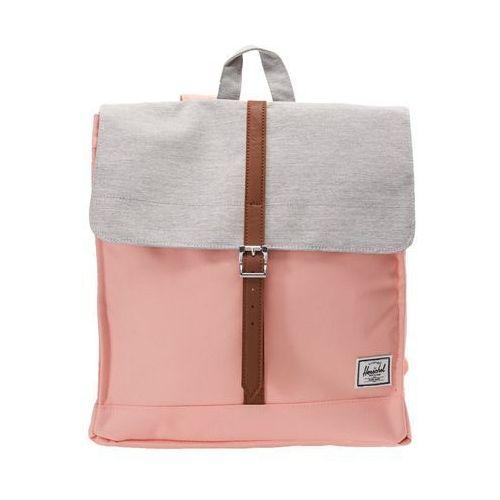 Herschel CITY MID VOLUME Plecak peach/ light grey crosshatch