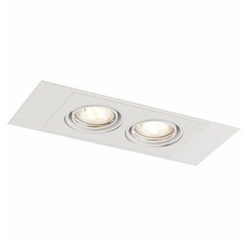 Shilo Wpust lampa sufitowa ebino h 7320 prostokątna oprawa metalowy wpust do zabudowy biały (5903689973205)