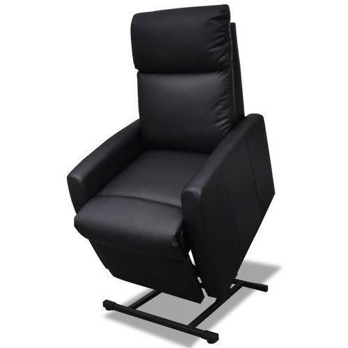 Vidaxl  dwu pozycyjny, elektryczny fotel tv z regulowanym oparciem czarny