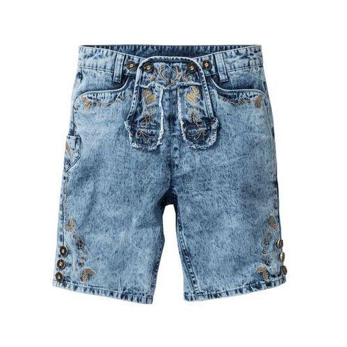 "Bonprix Bermudy dżinsowe w ludowym stylu regular fit niebieski ""medium bleached used"