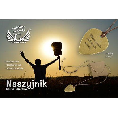 Naszyjnik kostka do gry na gitarze z własną grafiką i tekstem - mosiądz - KG03. Najniższe ceny, najlepsze promocje w sklepach, opinie.