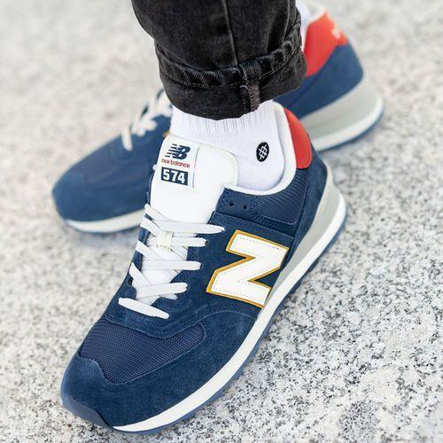 New Balance 574 (ML574OBA), kolor niebieski