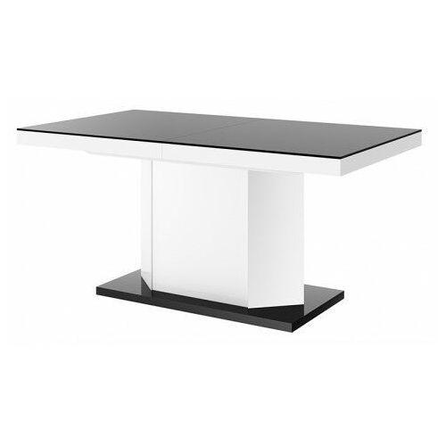 Rozkładany stół biało - czarny połysk - Walder 3X, amigo160-bialoczarny