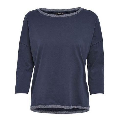 Gładki t-shirt z okrągłym dekoltem, rękawy 3/4 marki Only