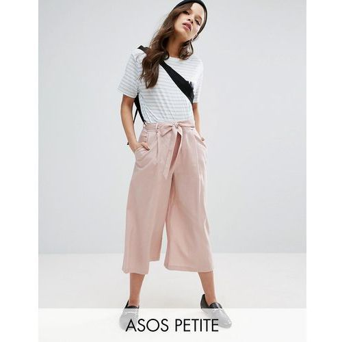 ASOS PETITE Linen Culotte Trousers - Pink, culotte