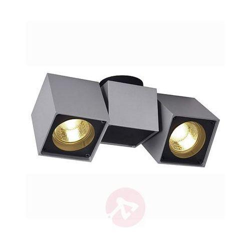 Slv Lampa punktowa 151534 gu10, (dxsxw) 22.5 x 7 x 10 cm, srebrno-szary, czarny