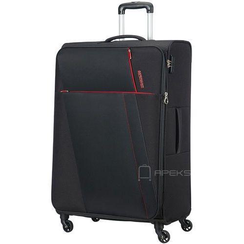 joyride duża poszerzana walizka 79 cm / czarna - obsidian black marki American tourister