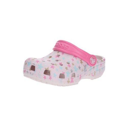 buty otwarte 'classic printed clog k' mieszane kolory / różowy pudrowy marki Crocs