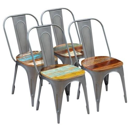 Krzesło do jadalni 4szt. drewno z odzysku 47x52x89 cm