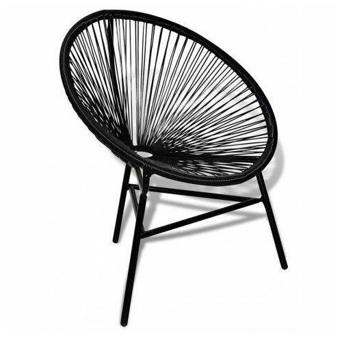 Krzesło ogrodowe Corrigan - czarne