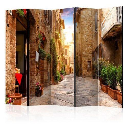 Parawan 5-częściowy - kolorowa uliczka w toskanii ii [room dividers]