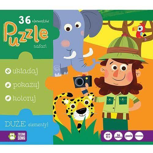Zielona sowa Puzzle safari 36 (5901761117073)