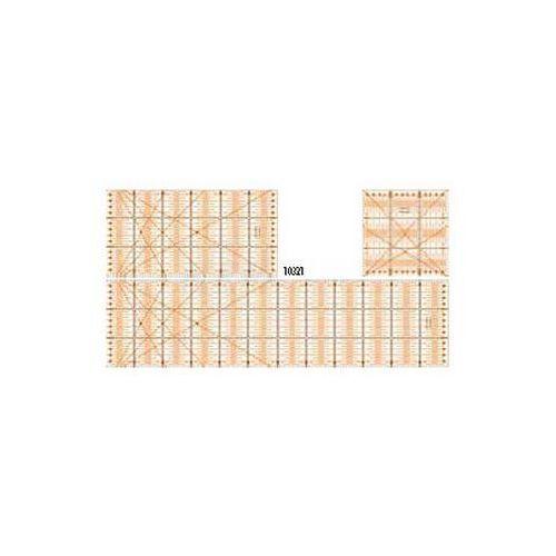 Przybory kreślarskie Płytka z podziałką szablon 15x15cm x1