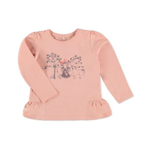 NAME IT Girls Mini Bluzka z długim rękawem NITOLEA coral cloud