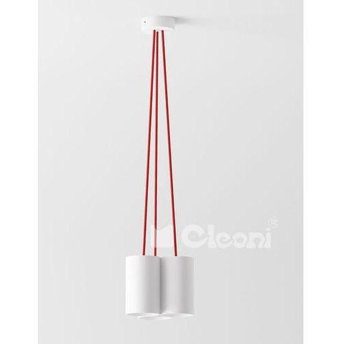 Lampa wisząca certo a5a z czerwonymi przewodami, 1291a5a+ marki Cleoni