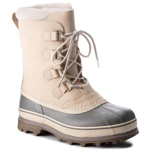 Śniegowce - caribou nm1000 oatmeal/quarry 241, Sorel, 40-46