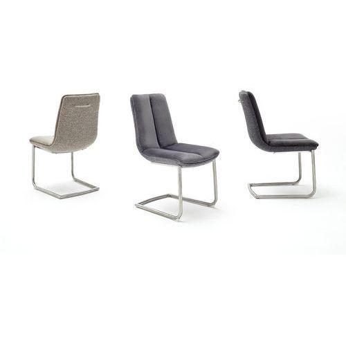 Krzesło GRIGORI stal szlachetna szczotkowana 46/65/91 cm