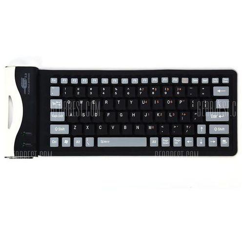 Foldable usb 2.0 wired keyboard wyprodukowany przez Gearbest