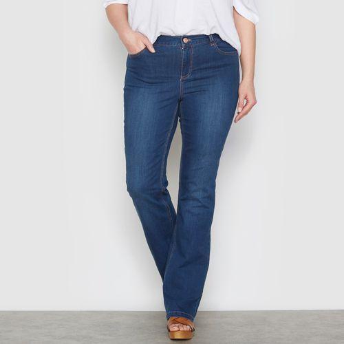 Streczowe dżinsy bootcut smukła sylwetka wewn. dł. nogawki. 73 cm marki Castaluna