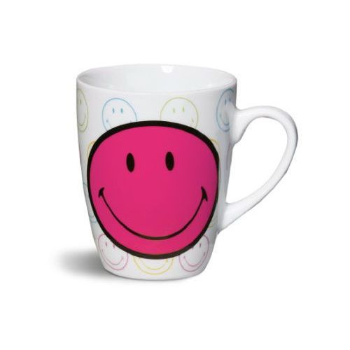 NICI Smiley World - Kubek porcelanowy Smiley Happy Collection kolor czerwony