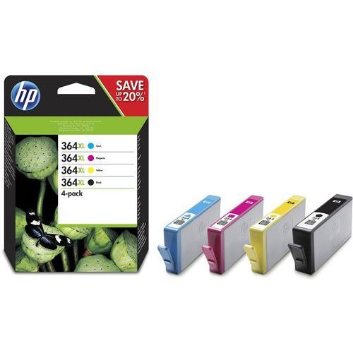Hp oryginalny ink n9j74ae, no.364xl combo pack, cmyk, hp photosmart c5393, plus b209, premium c309, premium marki Hewlett-packard