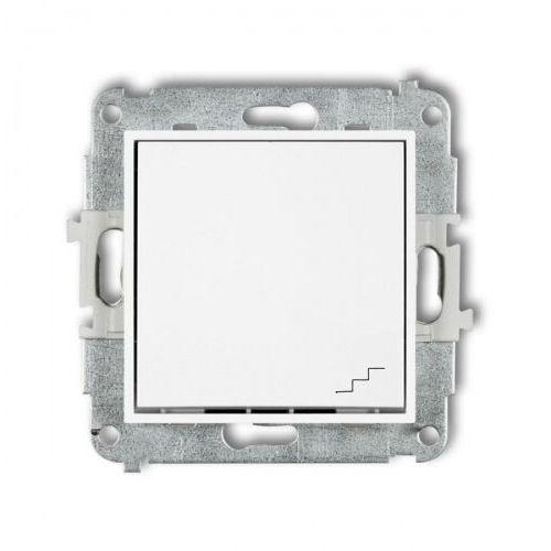 Wyłącznik schodowy pojedynczy Karlik Mini MWP-3 podtynkowy biały, MWP-3