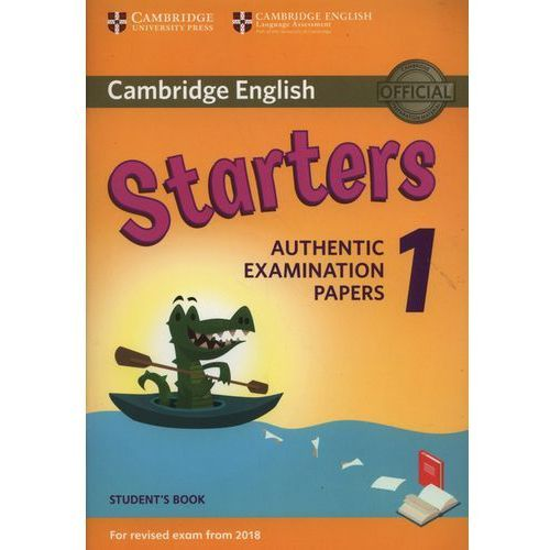 Cambridge English Starters 1 For Revised Exam From 2018 Student's Book, Cambridge University Press