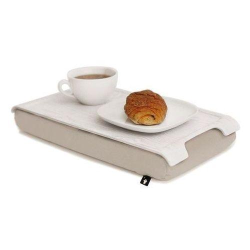 Bosign Taca mini laptray biała z kremową poduszką