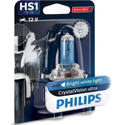 Żarówka Motocyklowa Philips® HS1 CrystalVision Ultra Moto | 12V 35/35W PX43t