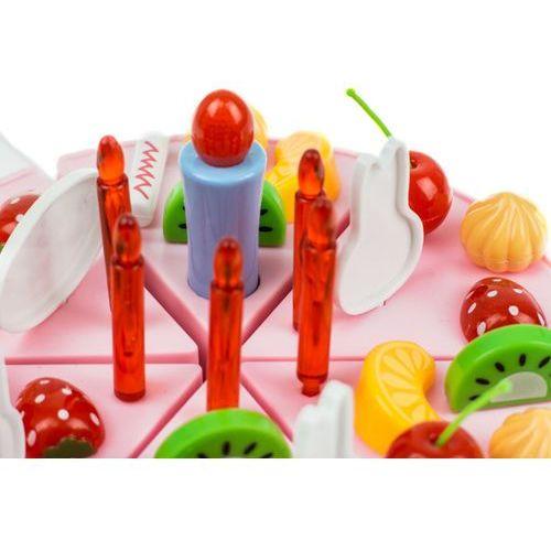 Kindersafe Duży tort urodzinowy do krojenia + świeczki, 37 elementów 889-21a