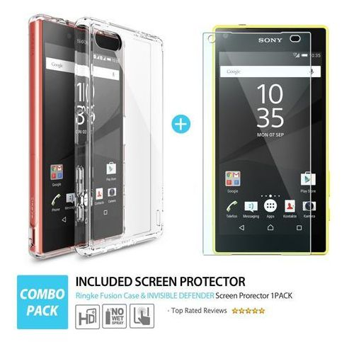 Rearth Etui ringke fusion xperia z5 compact, crystal view (8809452178891)