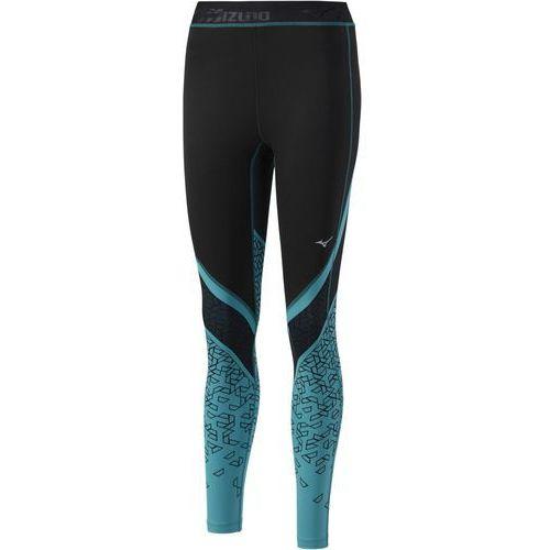 impulse legginsy black/tile blue marki Mizuno