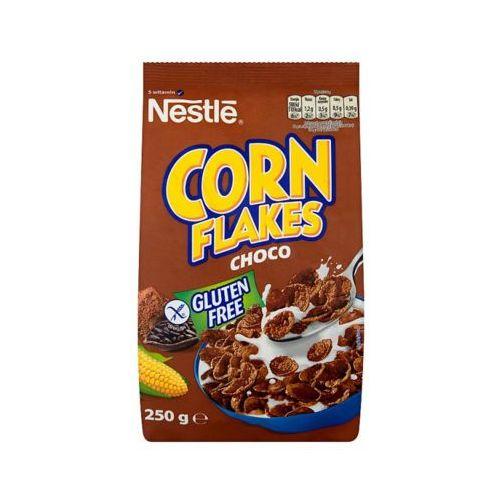 250g corn flakes choco płatki śniadaniowe o smaku czekoladowym marki Nestle