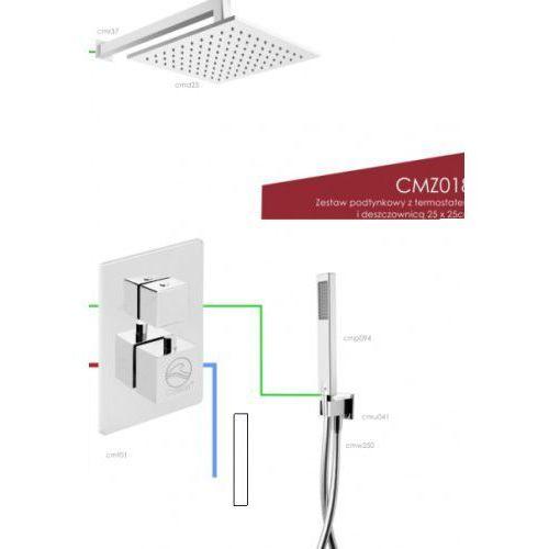 zestaw podtynkowy z termostatem i deszczownicą cmz018 marki Corsan