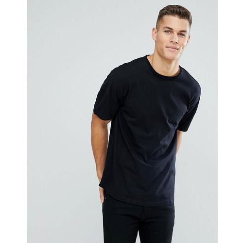 boxy fit t-shirt with dropped shoulder in black - black marki Tom tailor