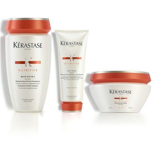Kerastase Nutritive | Zestaw do włosów normalnych i suchych: kąpiel 250ml + mleczko proteinowe 200ml + maska 200ml