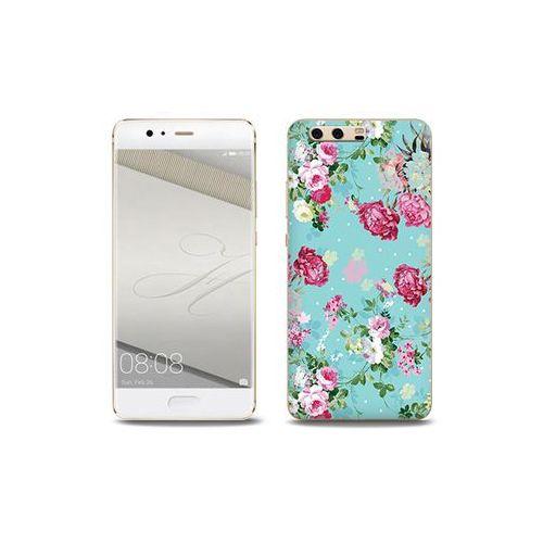 Fantastic Case - Huawei P10 Plus - etui na telefon Fantastic Case - różyczki na miętowym tle