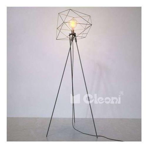 Stojąca LAMPA podłogowa MAKALU 1402LAB2/A/kolor Cleoni druciana OPRAWA na trójnogu loft