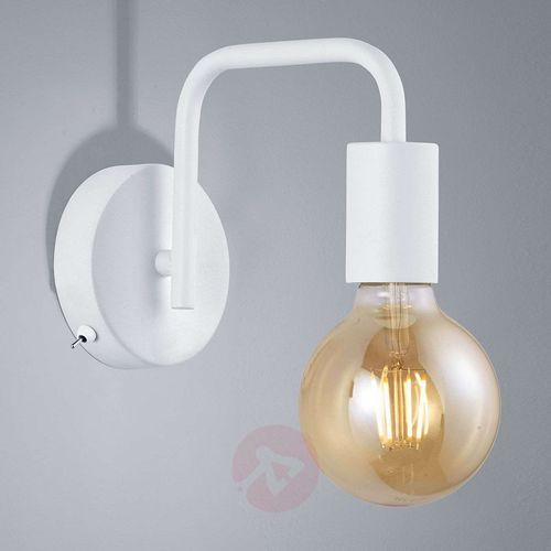 Lampa ścienna Diallo bez klosza, biały matowy (4017807407235)