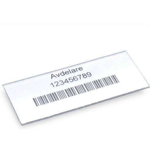 Etykiety, do skrzynki regałowej, wys. 30 mm, szer. 75 mm, opak. 100 szt. Etykie