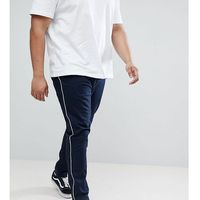 ASOS DESIGN Plus Skinny Chinos In Navy With White Piping - Navy