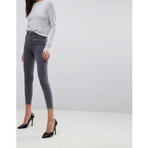 ridley high waist skinny jeans in stacey grey - grey, Asos