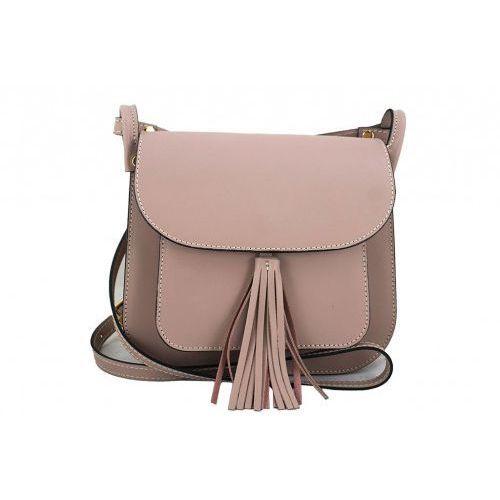 Barberini's Włoskie torebki listonoszki - - różowy pudrowy