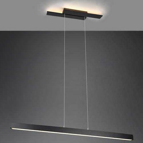 Trio Lampa wisząca belfast 375510432 metalowa oprawa belka zwis led 44w 3000k ściemnialny czarny