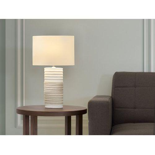 Nowoczesna lampka nocna - lampa stojąca - kremowa - navia marki Beliani