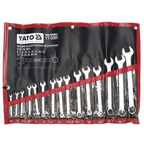 Klucze płasko-oczkowe, satynowe kpl 6-27, 15 cz. yt-0065 - zyskaj rabat 30 zł marki Yato